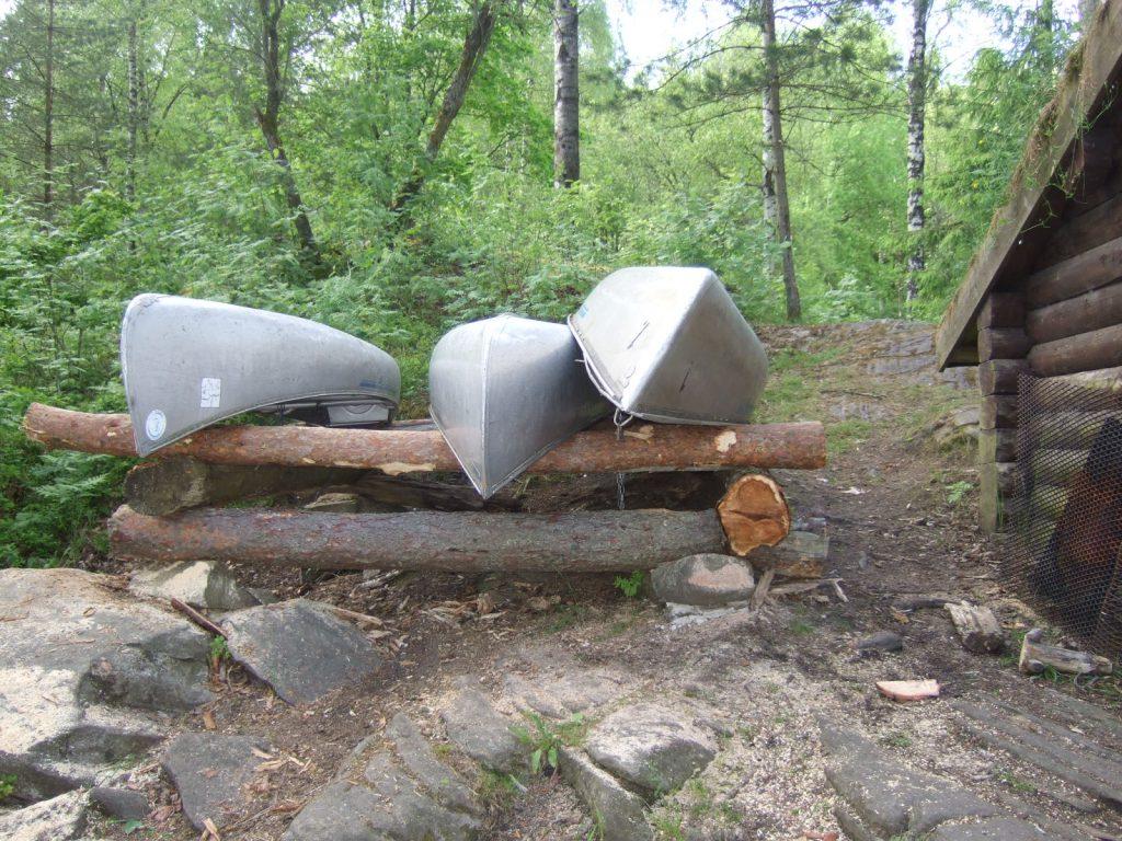 Några av våra kanoter, för uthyrning.